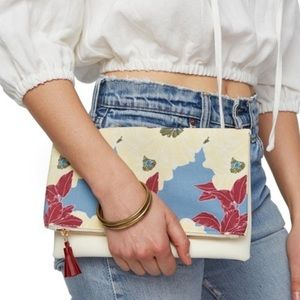 NWOT Rachel Pally Reversible Floral Clutch⭐️